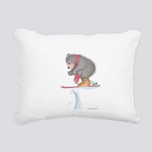 To Ski or Not to Ski Rectangular Canvas Pillow