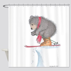 To Ski or Not to Ski Shower Curtain