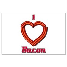 I Heart Bacon Large Poster