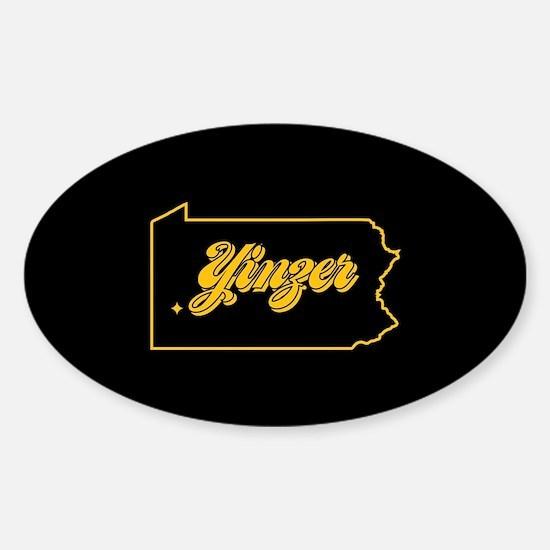 Pennsylvania Yinzer Sticker (Oval)