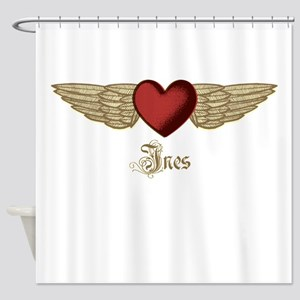 Ines the Angel Shower Curtain