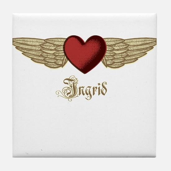 Ingrid the Angel Tile Coaster