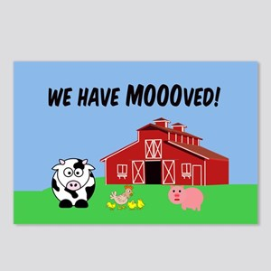 We've Moved Farm Postcards (Package of 8)