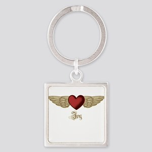 Ivy the Angel Square Keychain