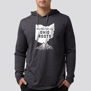 Thankful For My Ohio Roots Mens Hooded Shirt