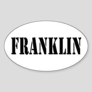 Franklin - Prison Break Oval Sticker