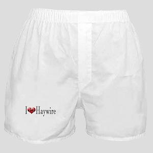 I heart Haywire Boxer Shorts