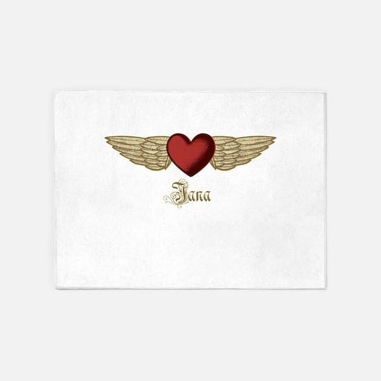 Jana the Angel 5'x7'Area Rug