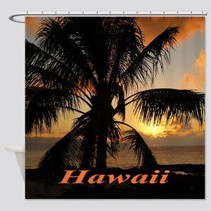 Sunset North Shore Shower Curtain