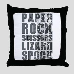 paper rock scissors lizard spock Throw Pillow