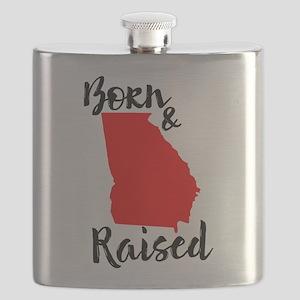 Georgia Born and Raised Flask