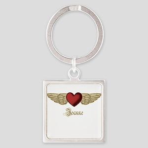 Joanne the Angel Square Keychain