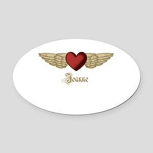 Joanne the Angel Oval Car Magnet
