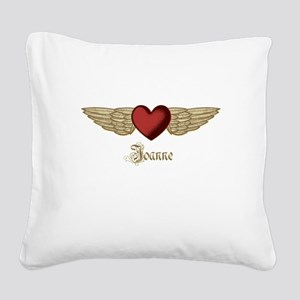 Joanne the Angel Square Canvas Pillow