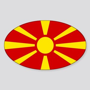Flag of Macedonian Sticker (Oval)