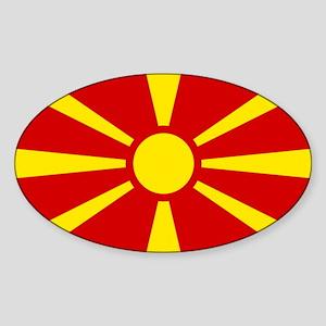 Flag of Macedonian Sticker (Oval)