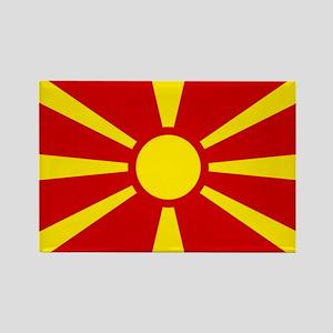 Flag of Macedonian Rectangle Magnet