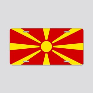 Flag of Macedonian Aluminum License Plate