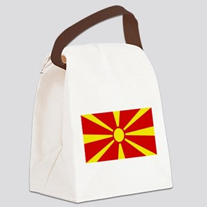 Flag of Macedonian Canvas Lunch Bag