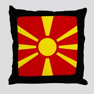 Flag of Macedonian Throw Pillow