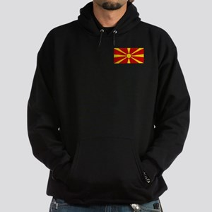 Flag of Macedonian Hoodie (dark)