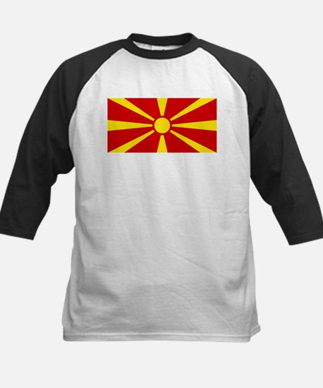 Flag of Macedonian Kids Baseball Jersey