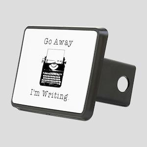 GO AWAY - Writing Rectangular Hitch Cover
