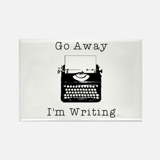 GO AWAY - Writing Rectangle Magnet