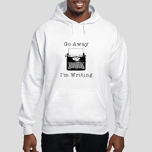 GO AWAY - Writing Hooded Sweatshirt