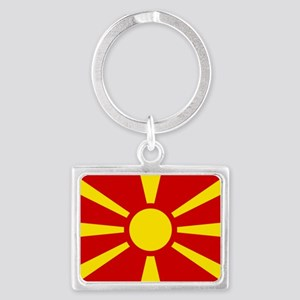 Flag of Macedonia Landscape Keychain