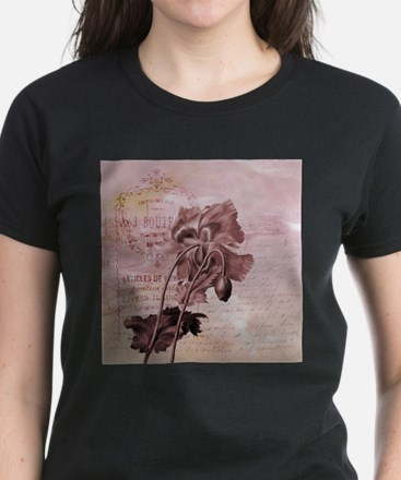 French Pink Poppy T-Shirt