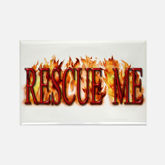 Rescue Me Rectangle Magnet