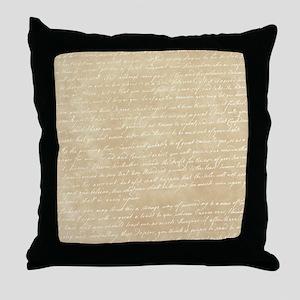 Vintage Script Throw Pillow