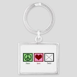Peace Love Twirl Landscape Keychain