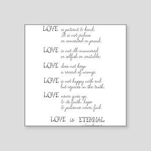 Love is Patient Verse Sticker