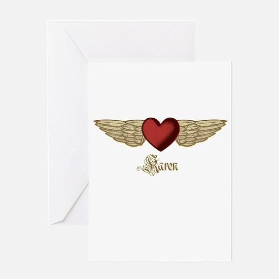 Karen the Angel Greeting Card