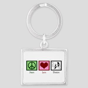 Peace Love Theatre Landscape Keychain