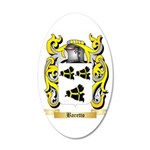 Baretto 20x12 Oval Wall Decal