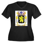 Barenholz Women's Plus Size V-Neck Dark T-Shirt