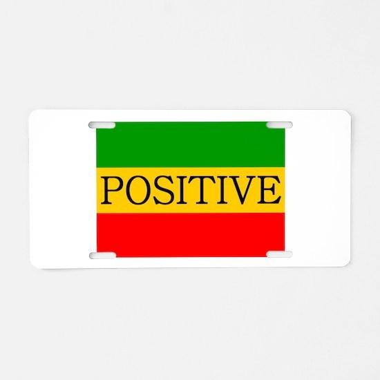 Positive Aluminum License Plate
