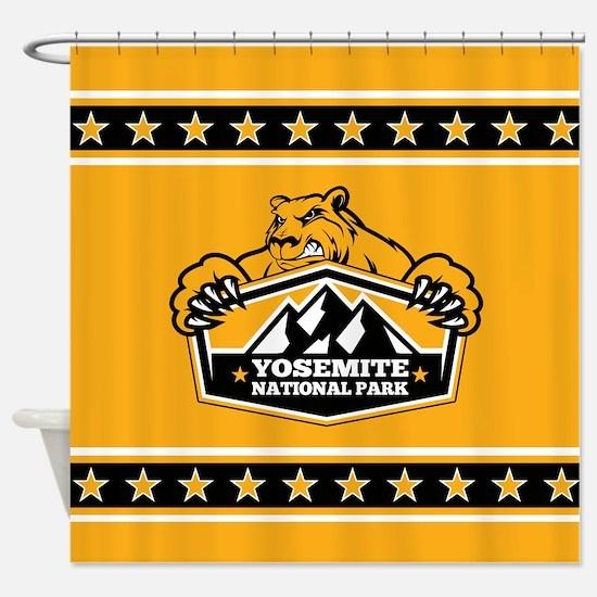 Yosemite Gold Bear Shower Curtain
