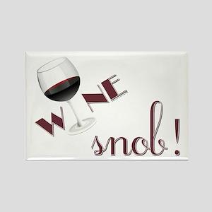 Wine Snob Rectangle Magnet