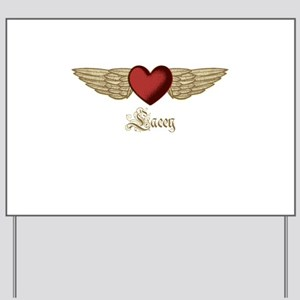 Lacey the Angel Yard Sign