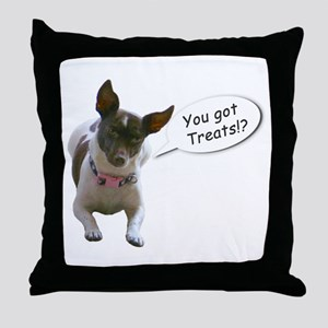 Curious Dog Throw Pillow
