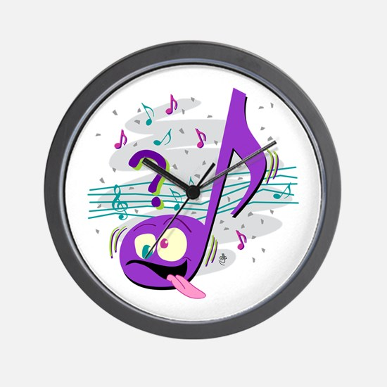 Crazy Music Note Wall Clock