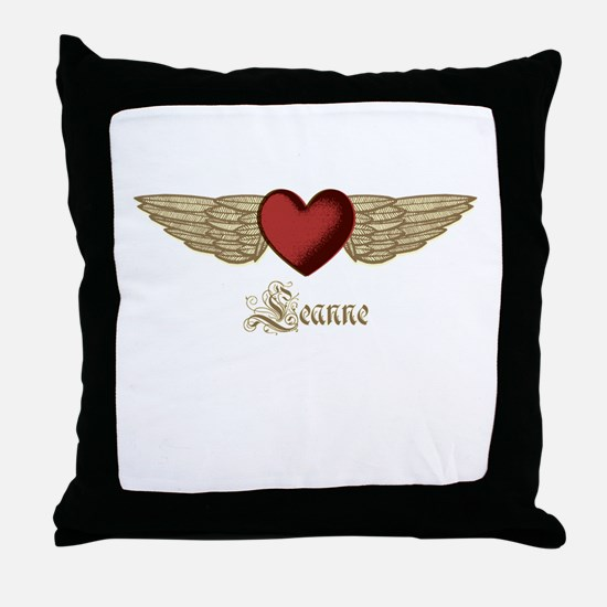 Leanne the Angel Throw Pillow