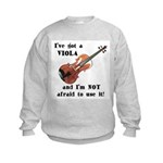I've Got a Viola Kids Sweatshirt