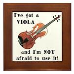 I've Got a Viola Framed Tile