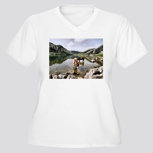 Cows in Lakes of Covadonga, Asturias Plus Size T-S