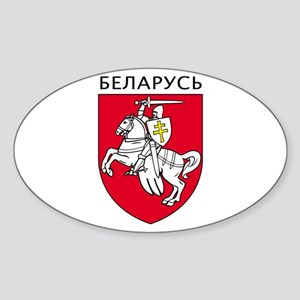 Belarus Oval Sticker